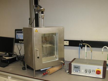Ametek test LS1 en calibratie instrument voor chewing gum in een gecondtioneerde ruimte